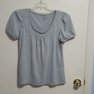 Lena Gray M Short Sleeve Shirt